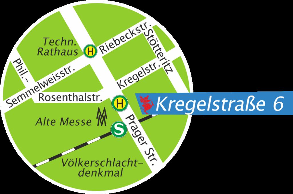 Lageplan Kregelstraße 6